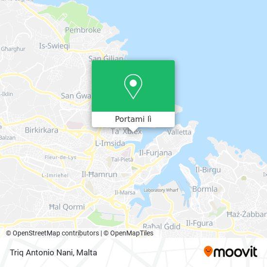 Mappa Triq Antonio Nani