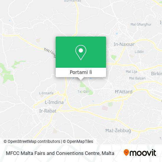 Mappa MFCC Malta Fairs and Conventions Centre