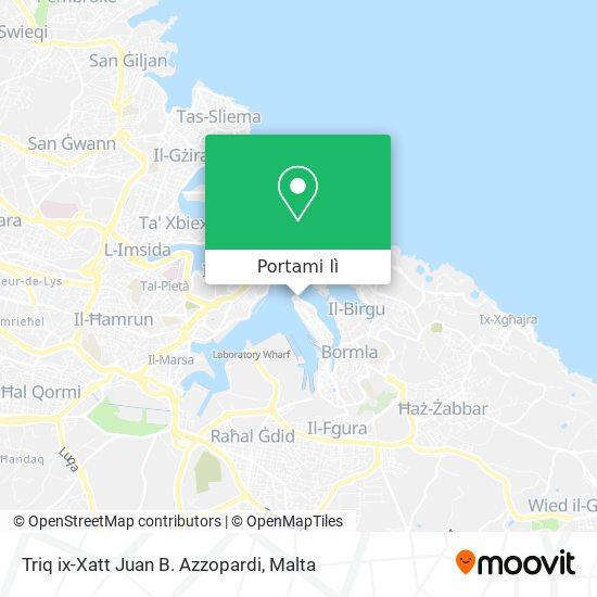 Mappa Triq ix-Xatt Juan B. Azzopardi