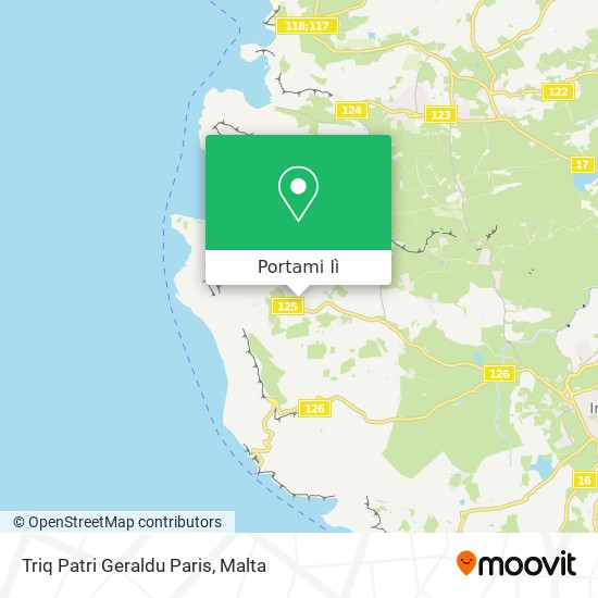 Mappa Triq Patri Geraldu Paris