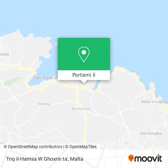 Mappa Triq il-Hamsa W Ghoxrin ta'