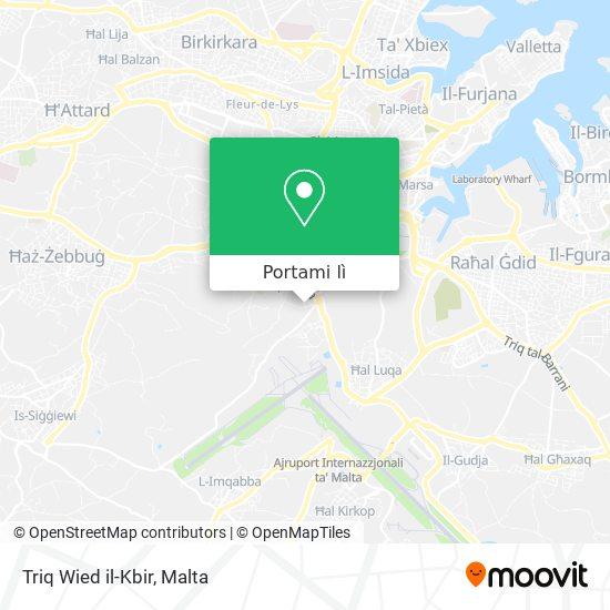 Mappa Triq Wied il-Kbir