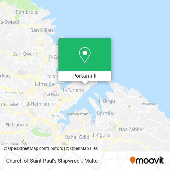 Mappa Church of Saint Paul's Shipwreck