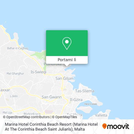Mappa Marina Hotel Corinthia Beach Resort (Marina Hotel At The Corinthia Beach Saint Julian's)