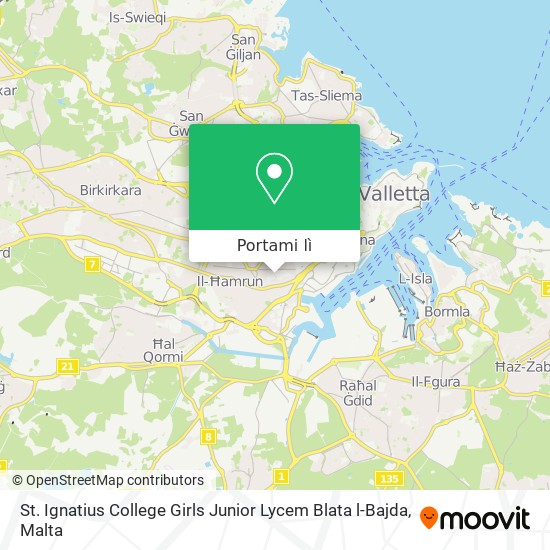 Mappa St. Ignatius College Girls Junior Lycem Blata l-Bajda