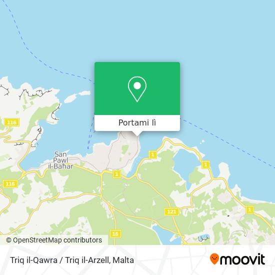 Mappa Triq il-Qawra / Triq il-Arzell