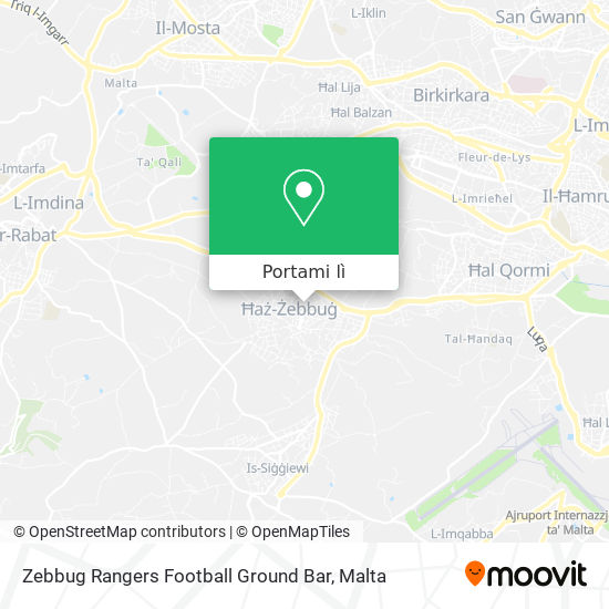 Mappa Zebbug Rangers Football Ground Bar