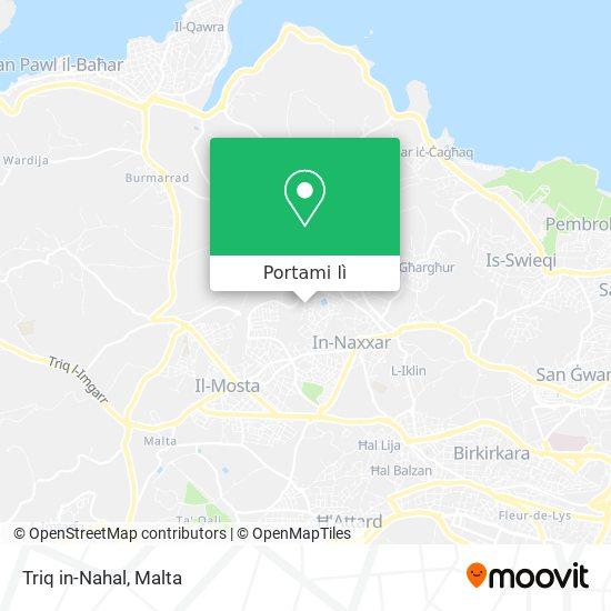 Mappa Triq in-Nahal