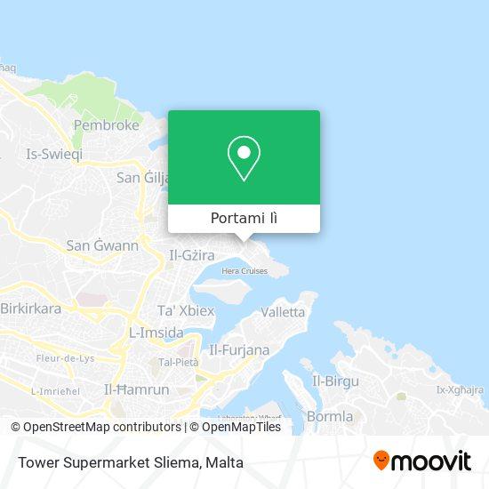 Mappa Tower Supermarket Sliema