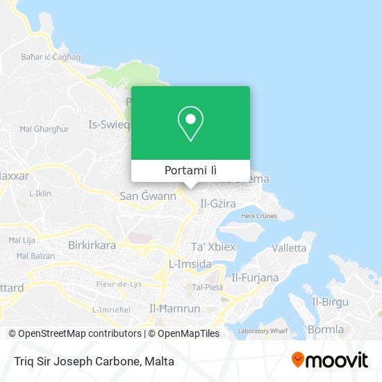 Mappa Triq Sir Joseph Carbone