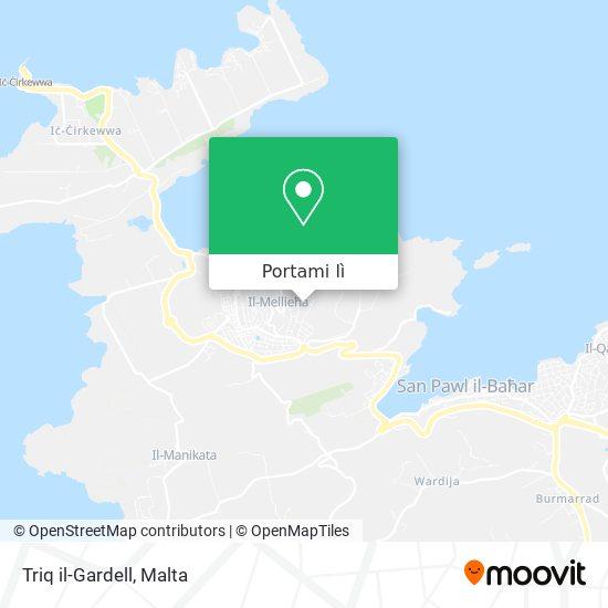 Mappa Triq il-Gardell