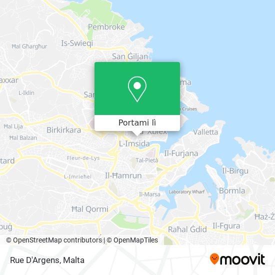 Mappa Rue D'Argens
