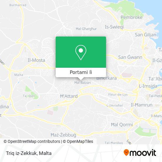 Mappa Triq iz-Zekkuk