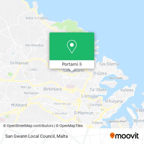 Mappa San Gwann Local Council