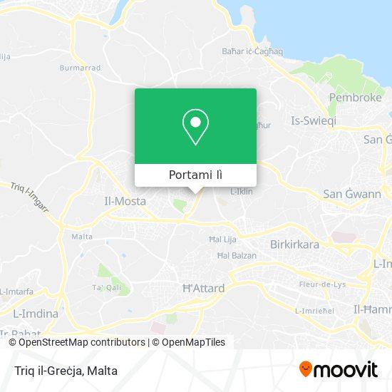 Mappa Triq il-Greċja