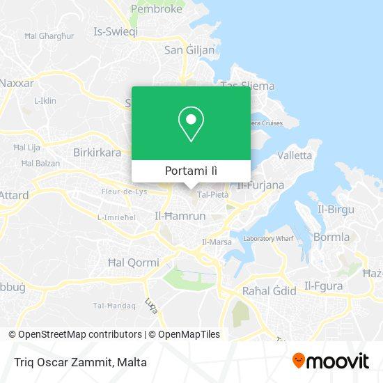 Mappa Triq Oscar Zammit