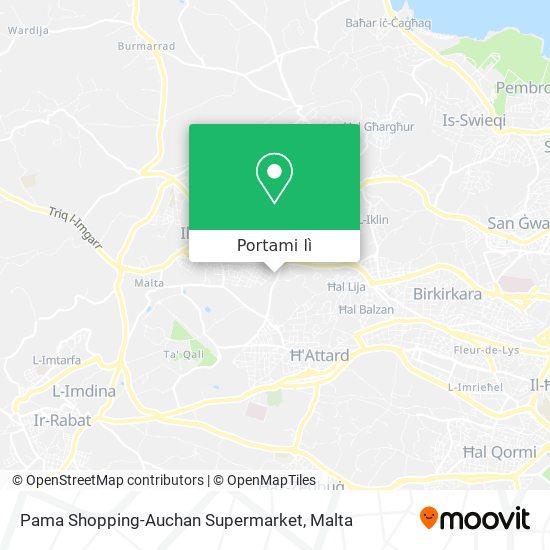 Mappa Pama Shopping-Auchan Supermarket