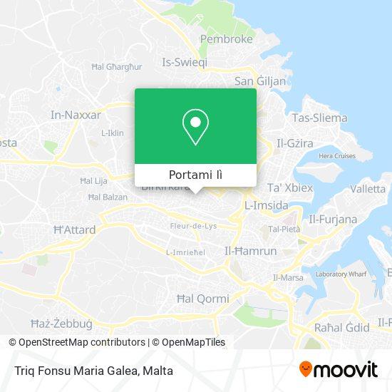Mappa Triq Fonsu Maria Galea