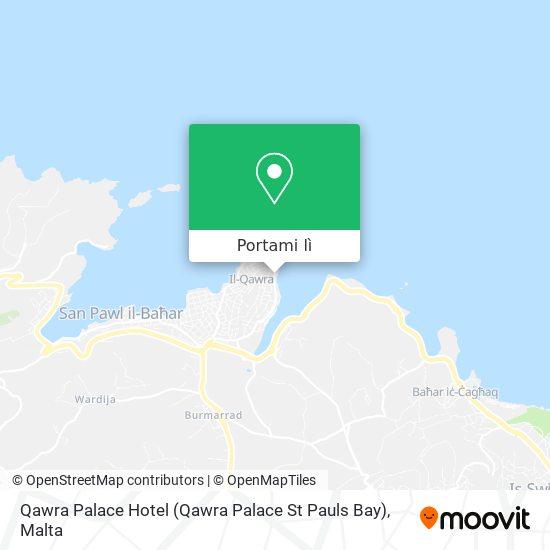 Mappa Qawra Palace Hotel (Qawra Palace St Pauls Bay)