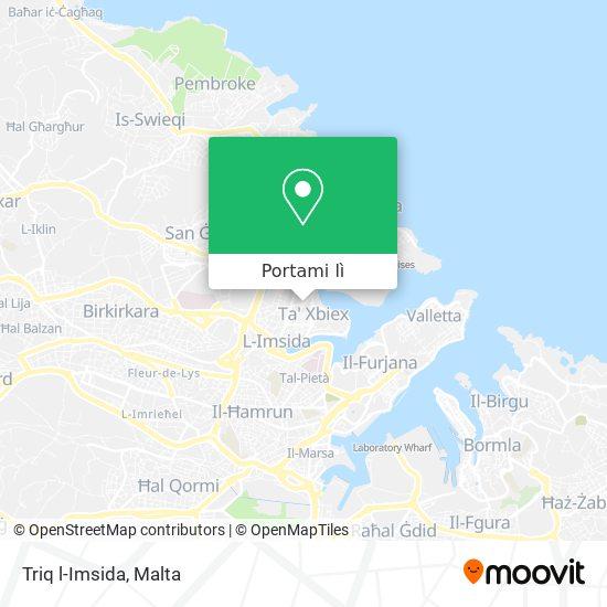 Mappa Triq l-Imsida