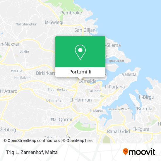 Mappa Triq L. Zamenhof