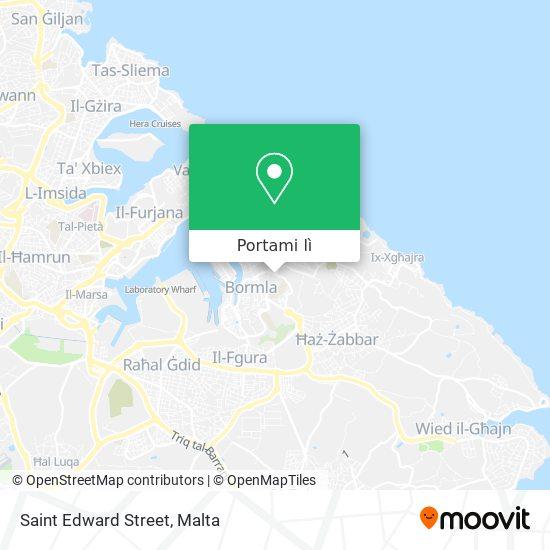 Mappa Saint Edward Street