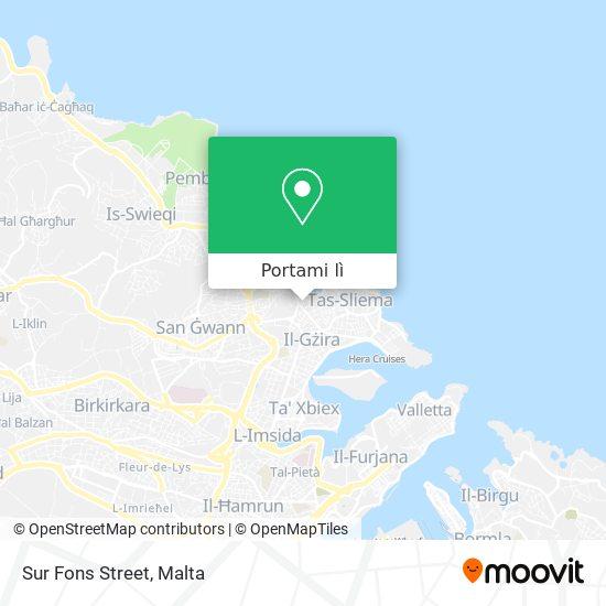 Mappa Sur Fons Street
