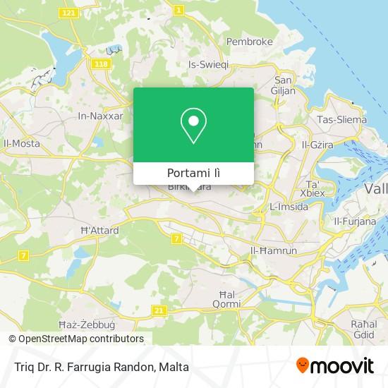 Mappa Triq Dr. R. Farrugia Randon