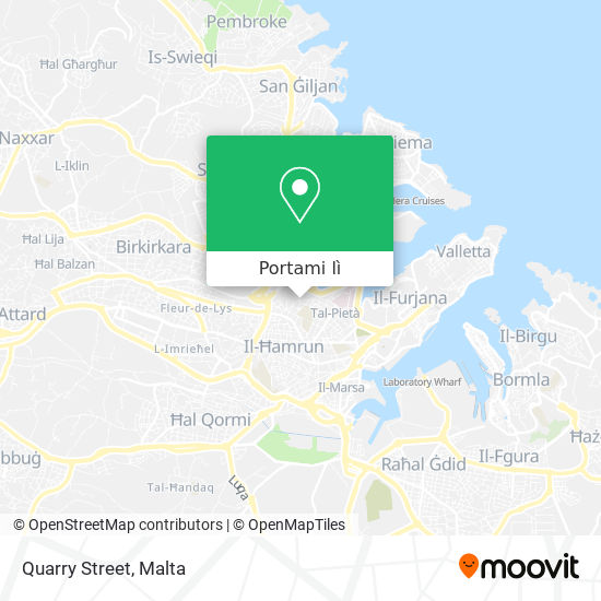 Mappa Quarry Street