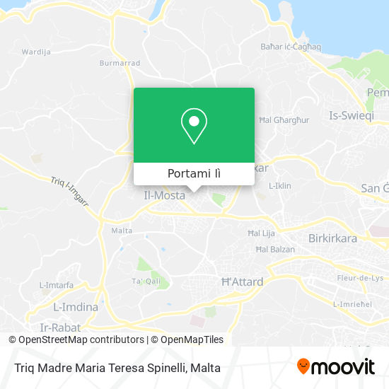 Mappa Triq Madre Maria Teresa Spinelli