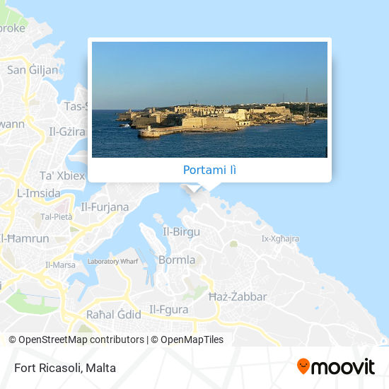 Mappa Fort Ricasoli