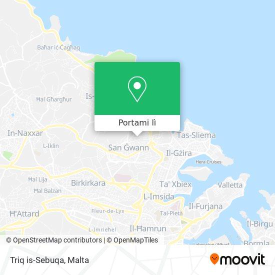 Mappa Triq is-Sebuqa