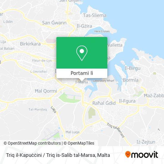 Mappa Triq il-Kapuċċini / Triq is-Salib tal-Marsa
