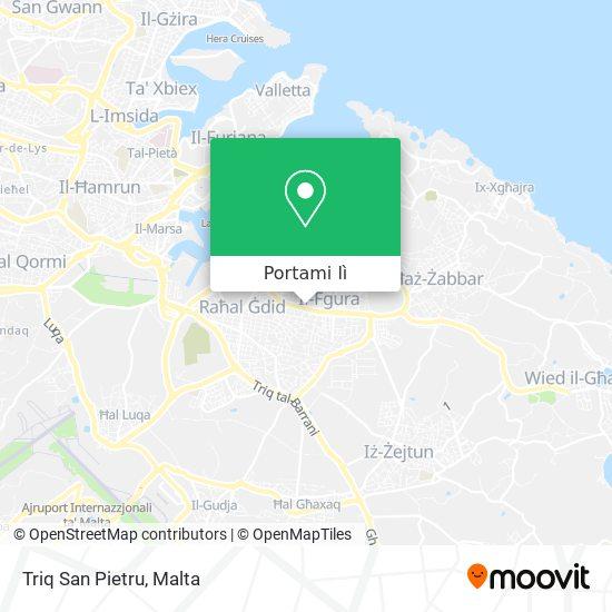 Mappa Triq San Pietru