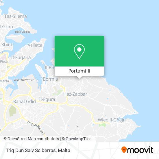 Mappa Triq Dun Salv Sciberras