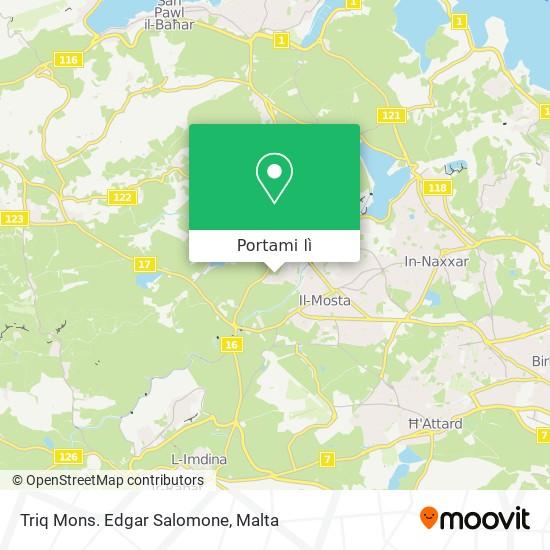 Mappa Triq Mons. Edgar Salomone
