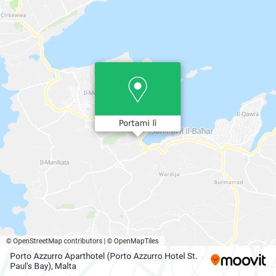 Mappa Porto Azzurro Aparthotel (Porto Azzurro Hotel St. Paul's Bay)