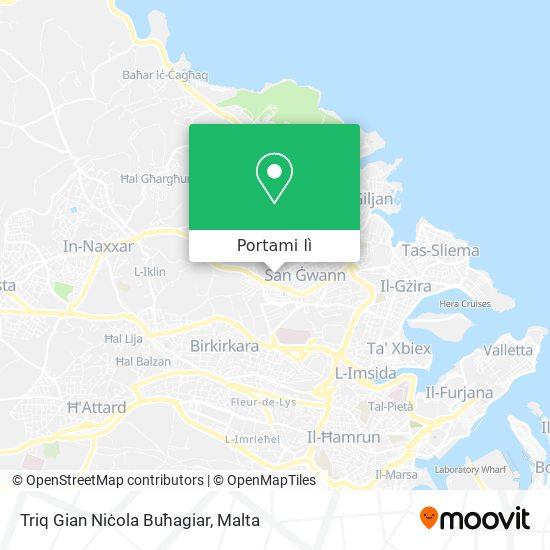 Mappa Triq Gian Niċola Buħagiar
