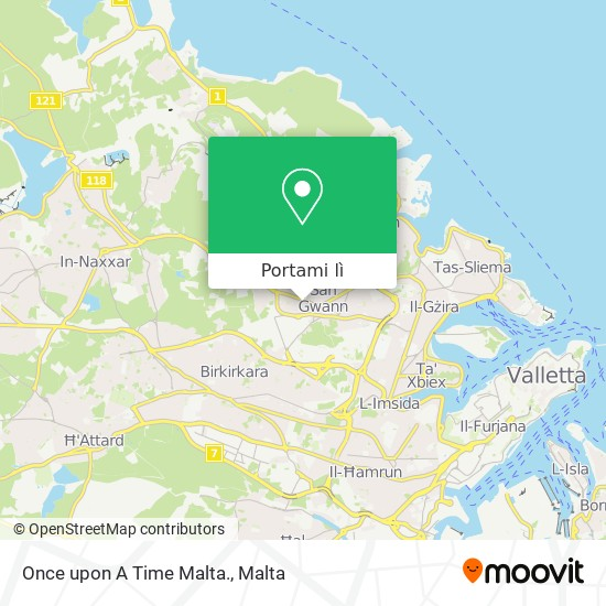 Mappa Once upon A Time Malta.