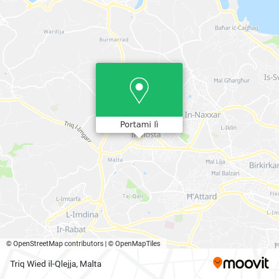 Mappa Triq Wied il-Qlejja