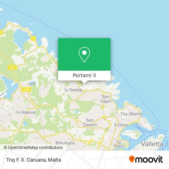 Mappa Triq F. X. Caruana