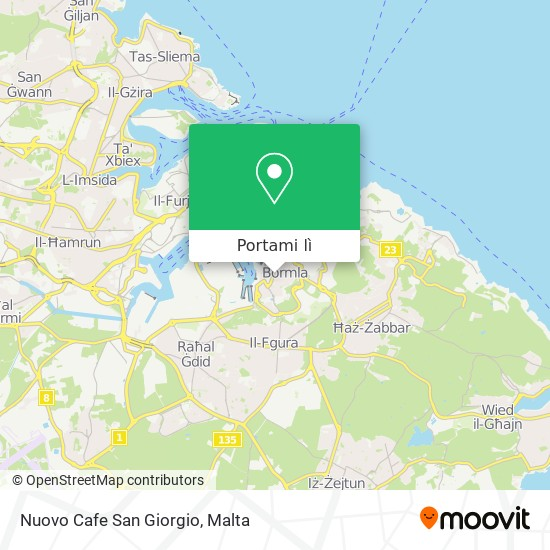 Mappa Nuovo Cafe San Giorgio