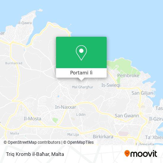 Mappa Triq Kromb il-Baħar