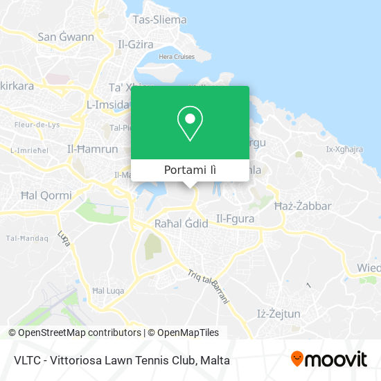 Mappa VLTC - Vittoriosa Lawn Tennis Club
