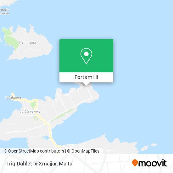 Mappa Triq Daħlet ix-Xmajjar