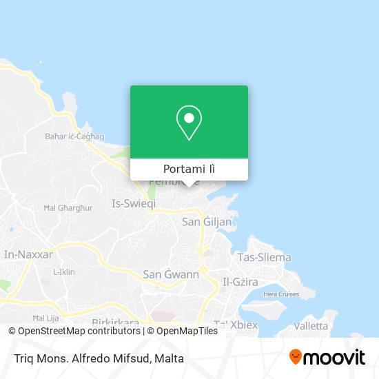 Mappa Triq Mons. Alfredo Mifsud