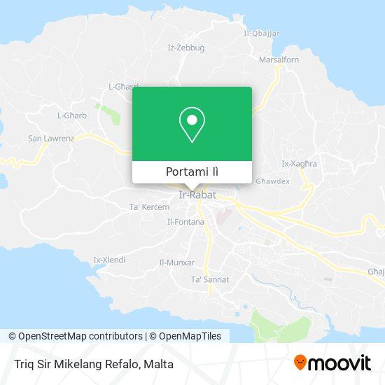 Mappa Triq Sir Mikelang Refalo