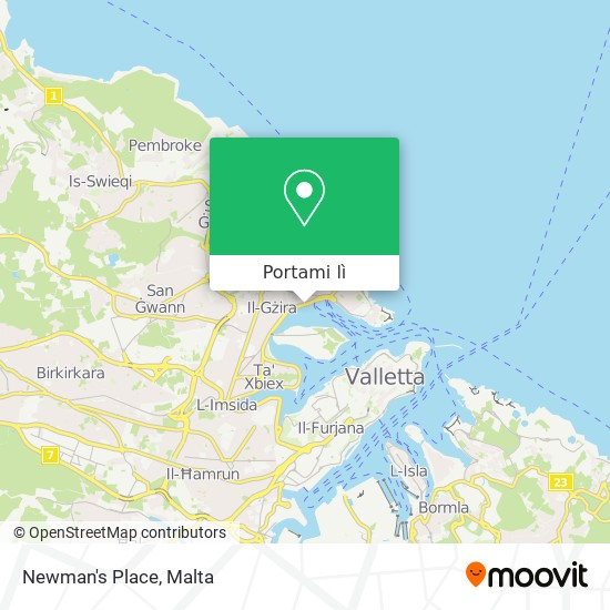 Mappa Newman's Place
