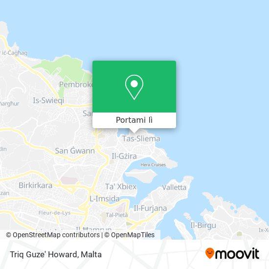 Mappa Triq Guze' Howard