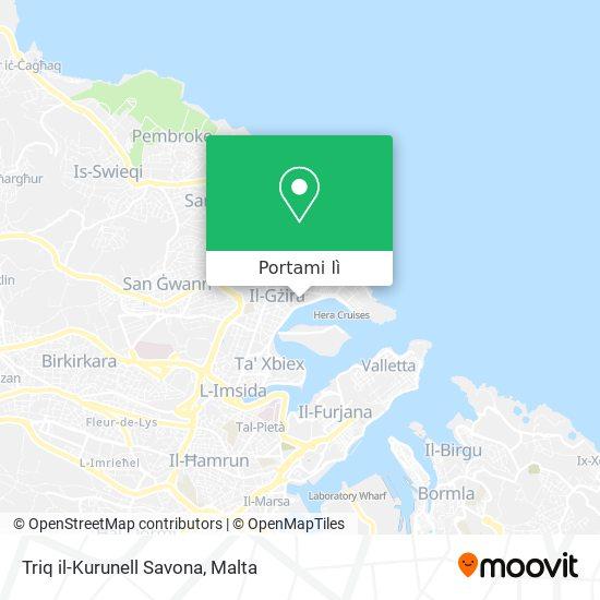 Mappa Triq il-Kurunell Savona